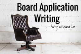 Board Application and CV Writing