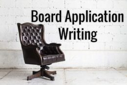 Board cover letter writing