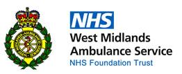 NHS West Midlands Ambulance Logo
