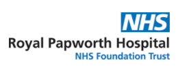 NHS Royal Papworth Hospital Trust Logo